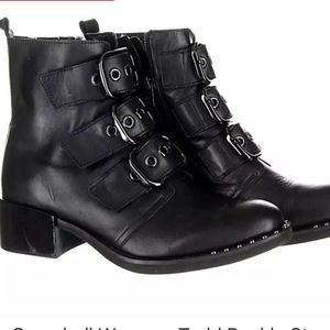 Jeffrey Campbell Todd Buckle Boots NEW